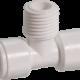 1/4 İnch Quick Ortadan Dişli T Dirsek Su Arıtma Cihazları İçin