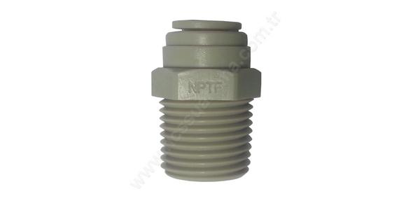 5 Adet 1/2″T -1/2″ NPT Erkek Konnektör Su Arıtma Sistemleri İçin